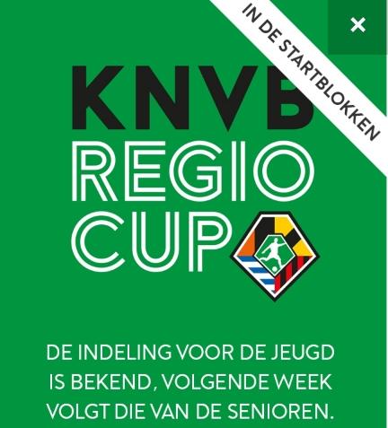 Poule-indeling regio-cup voor jeugd bekend