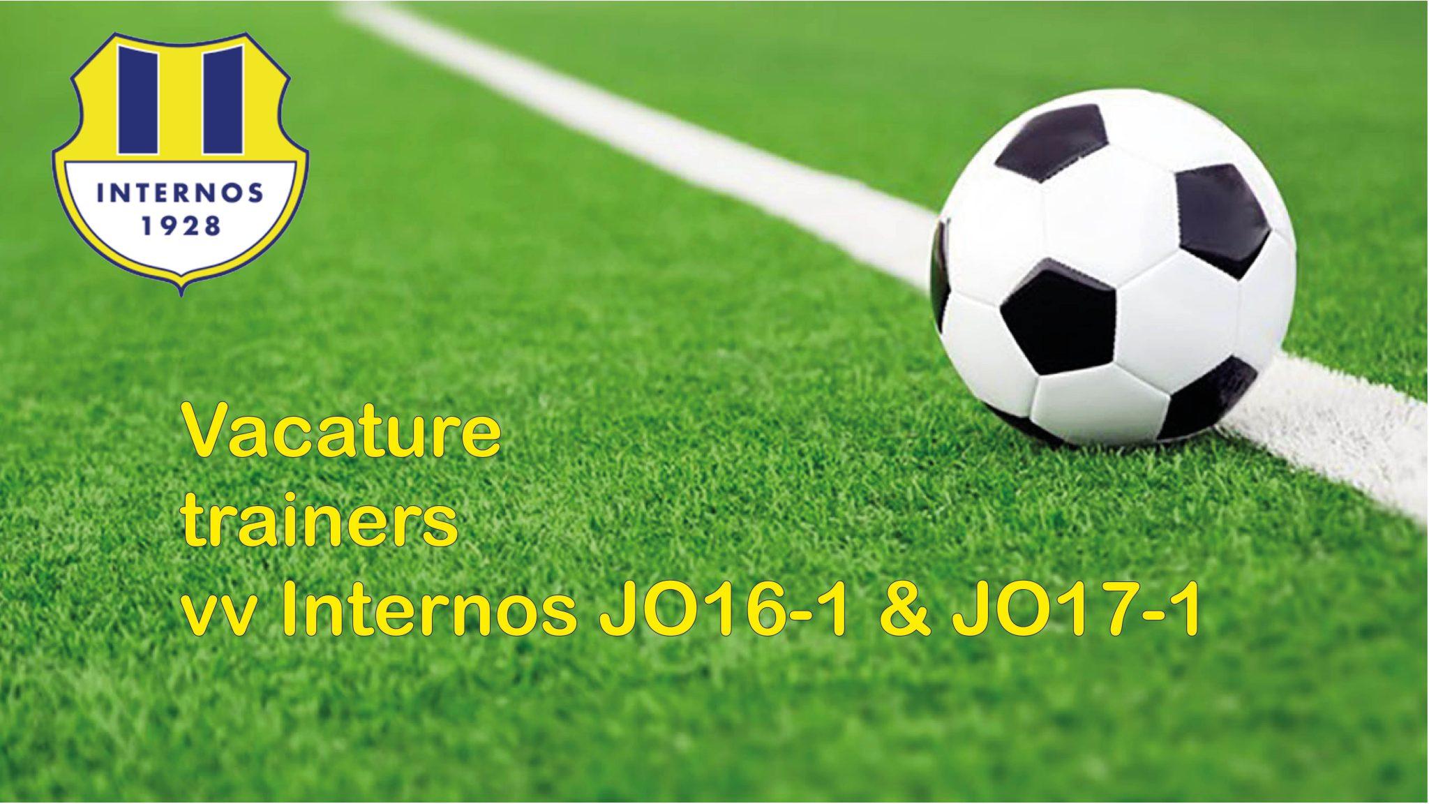 Trainers gezocht voor JO16-1 & JO17-1